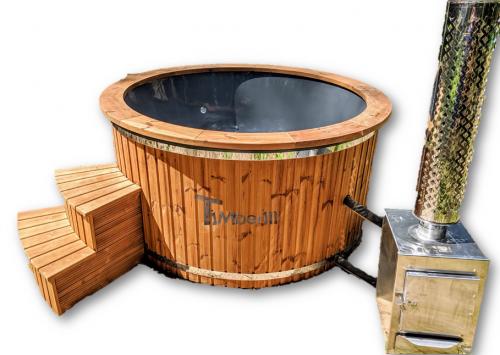 Jacuzzi balie ogrodowe do kąpieli ogrzewane drewnem