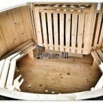 Jacuzzi balia ogrodowa drewniana do samodzielnego montażu