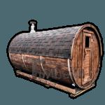 Sauna ogrodowa beczka elektryczna opalana drewnem